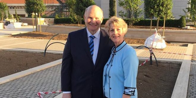 Elder & Sister Renlund Tour Rome Italy Temple Construction Site