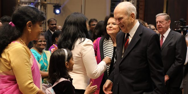 President Nelson Reaches India, Shares Surprising Story of Bengaluru Temple