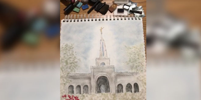 This LDS Temple Sketch Was Created With Makeup