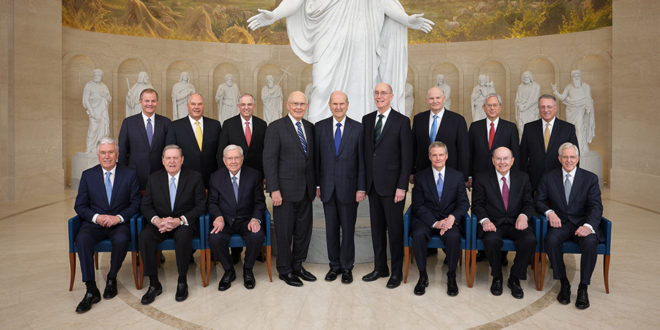 Rome Italy Temple Dedicated, Historic Photo of Leadership Taken