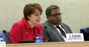 Sister Eubank Speaks at UN Conference in Geneva