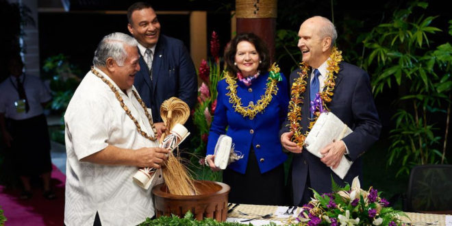 President Nelson Admonishes Samoans to Protect Their Children