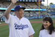 Elder Neil L. Andersen Throws First Pitch for Dodgers