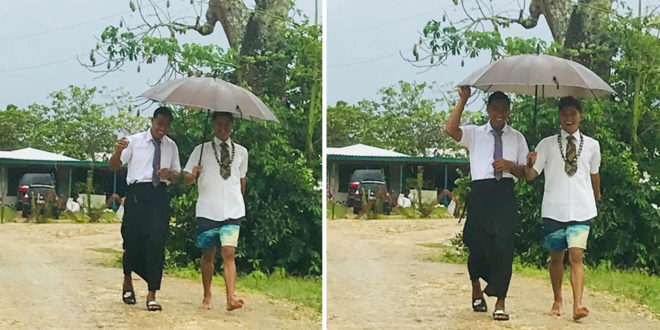 Tongan Youth Gives Clothes Off Back in Inspiring Story of Service