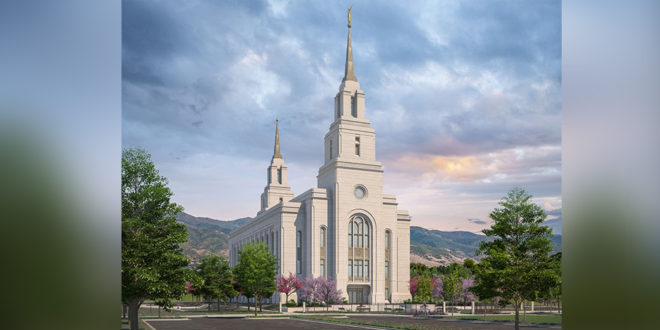 Rendering of the Layton Utah Temple Released