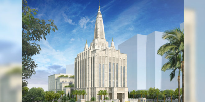 Exterior Rendering Released of Bengaluru India Temple