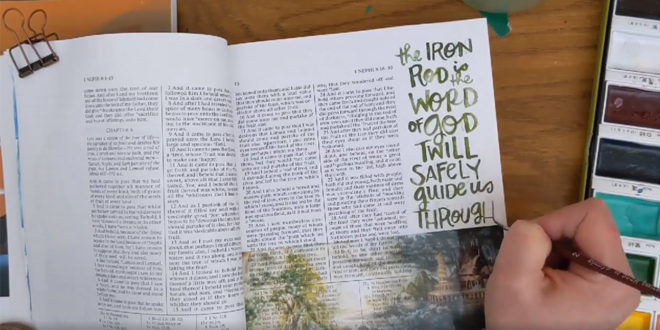 Creative Video Features Beautiful Tape-Transfer Scripture Sticker Technique