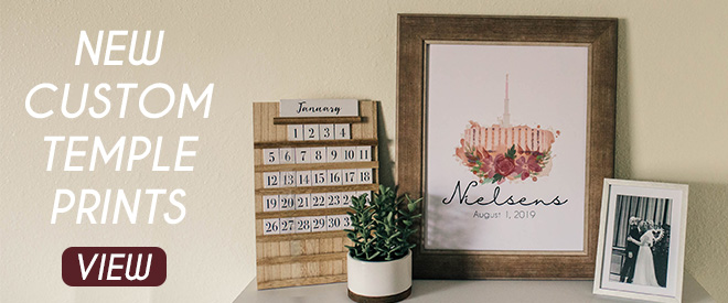 Personalized Framed LDS Temple Print
