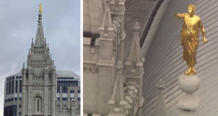 Angel Moroni Damaged on Salt Lake Temple After Earthquake