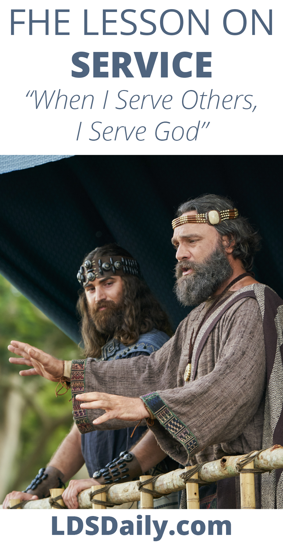 FHE Lesson on Service - When I Serve God, I Serve Others PIN