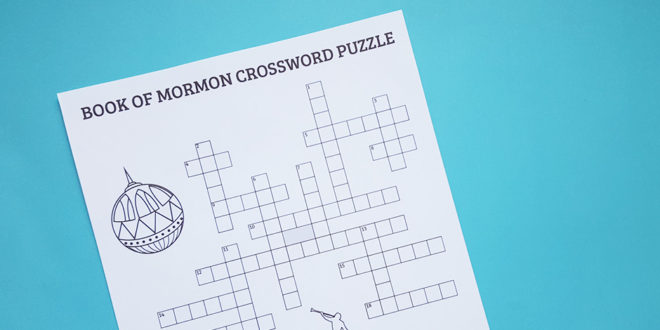 Can You Solve This Book of Mormon Crossword Puzzle?