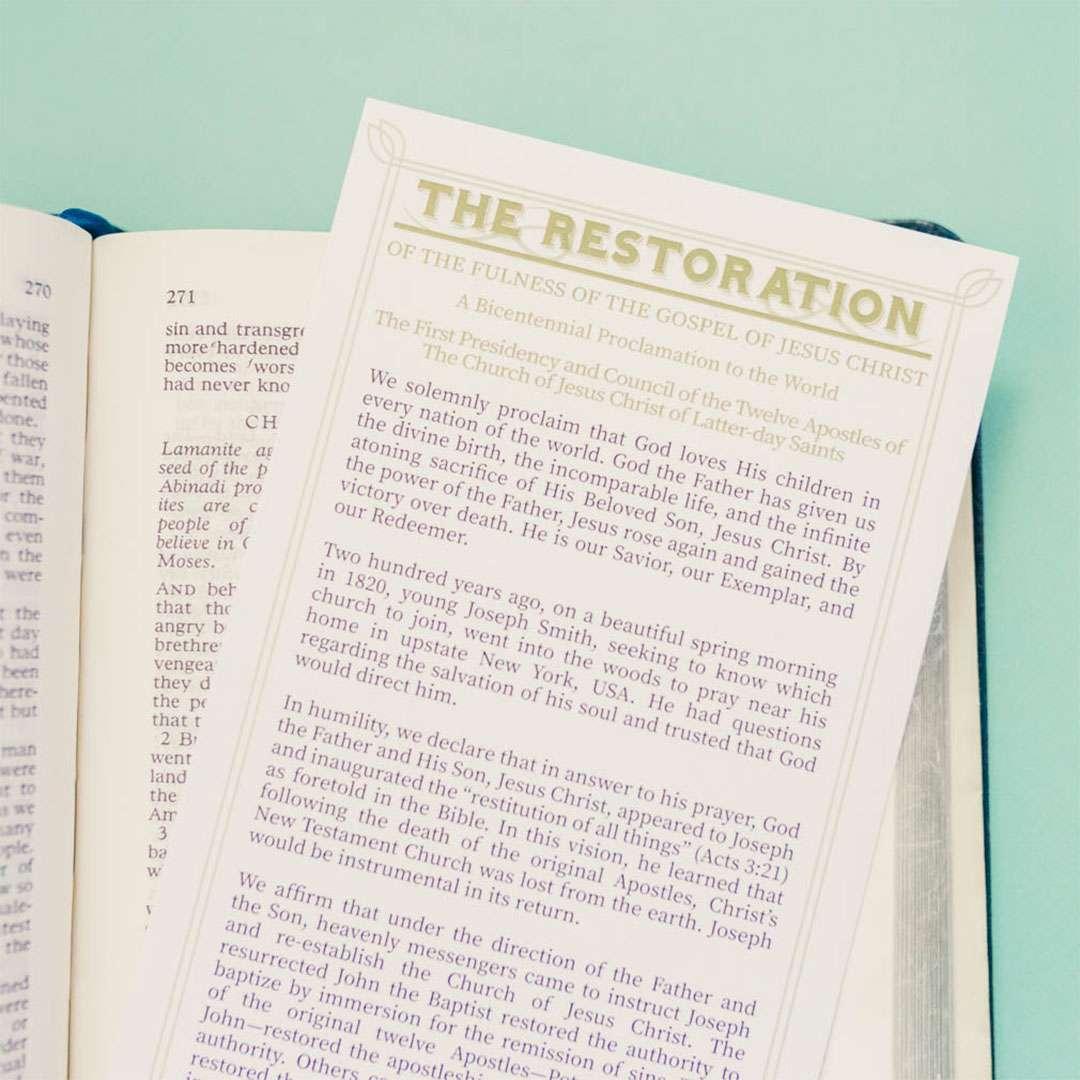 Restoration Proclamation Bookmark