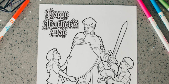 FREE Armour of God Father's Day Coloring Page