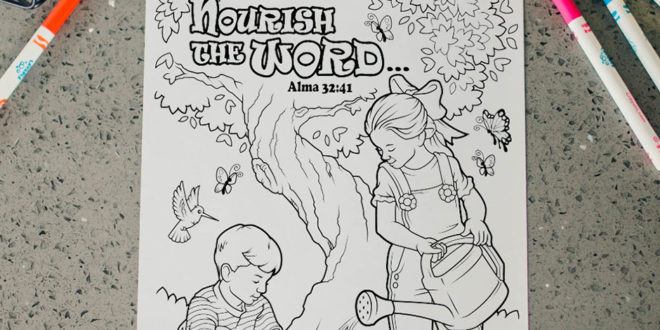Here's Your Free Come, Follow Me Coloring Page – July 13-19, 2020
