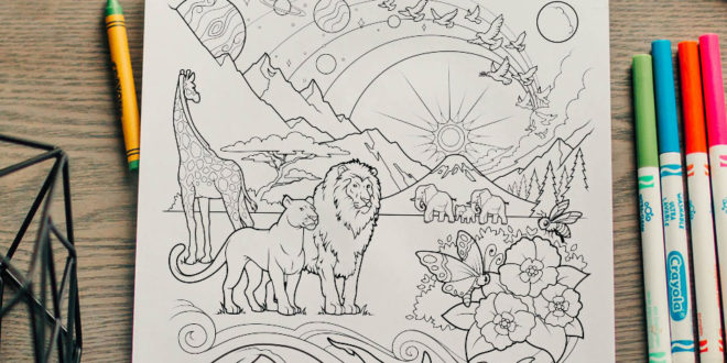 Here's Your Free Come, Follow Me Coloring Page – July 6-12, 2020