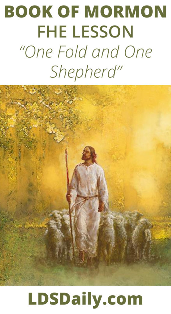 Book of Mormon FHE Lesson - One Fold and One Shepherd