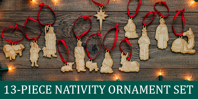 LDS Nativity Ornament Set