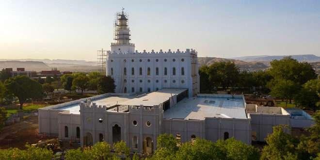 St. George Utah Temple Renovation Project Hits One-Year Milestone